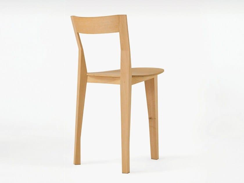 Oak chair PETITE GIGUE - Moustache