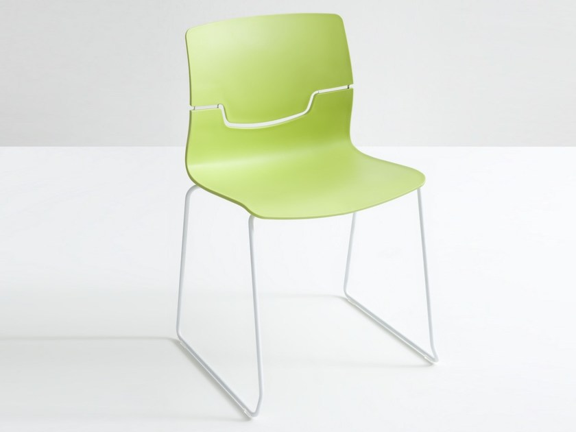 Sled base stackable polypropylene chair SLOT S by GABER