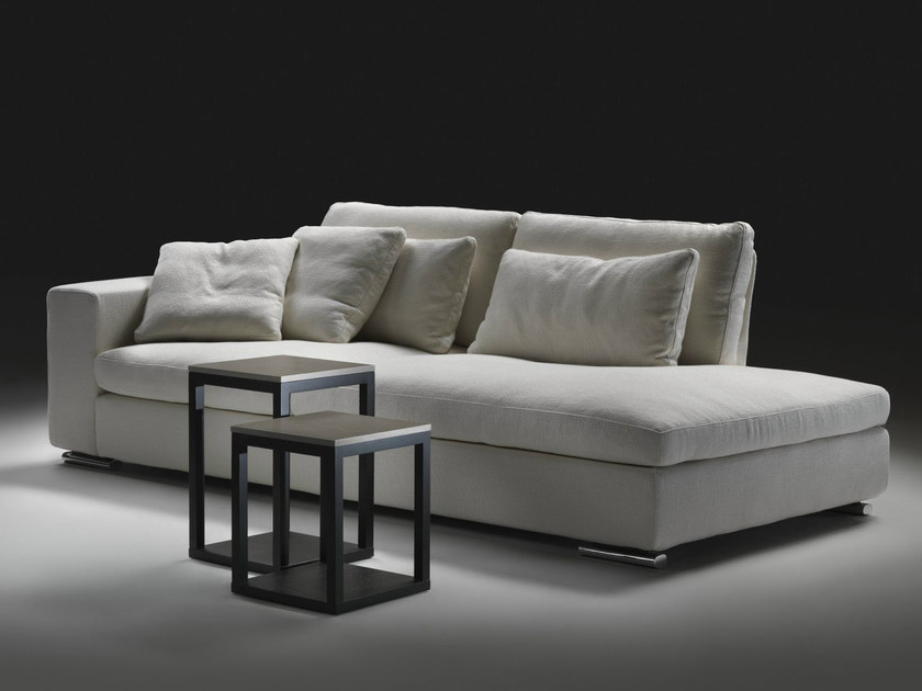 Sectional convertible fabric sofa