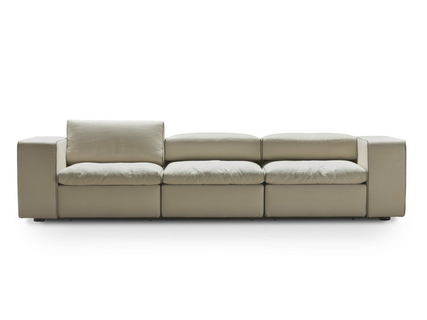 Upholstered recliner fabric sofa