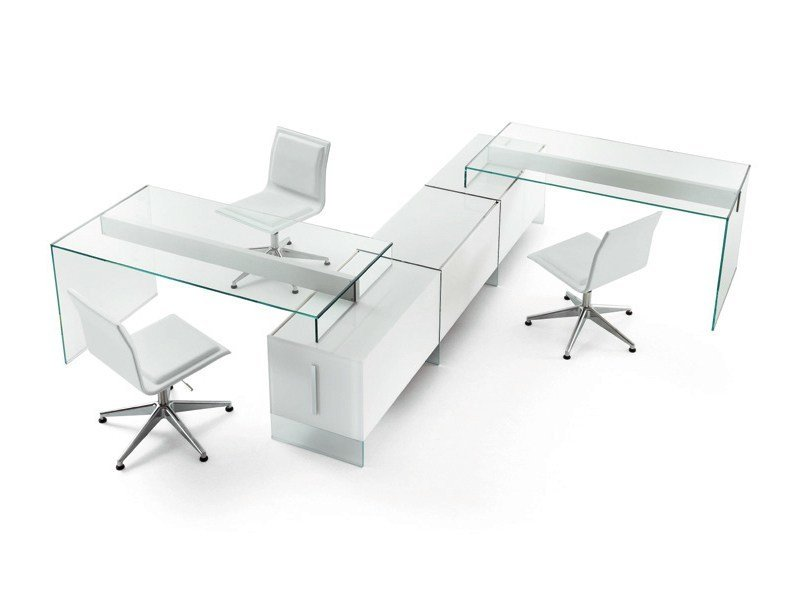 Multiple crystal office workstation AIR UNIT by Gallotti&Radice