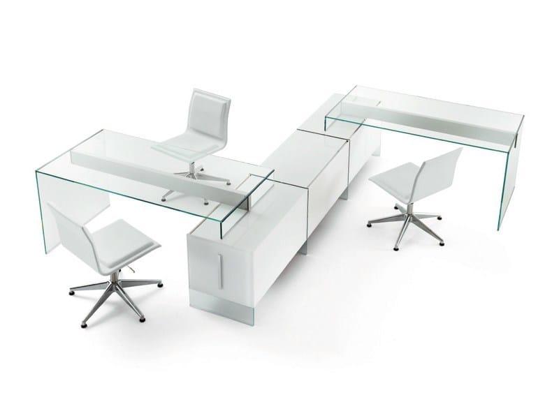 Multiple crystal office workstation AIR UNIT - Gallotti&Radice