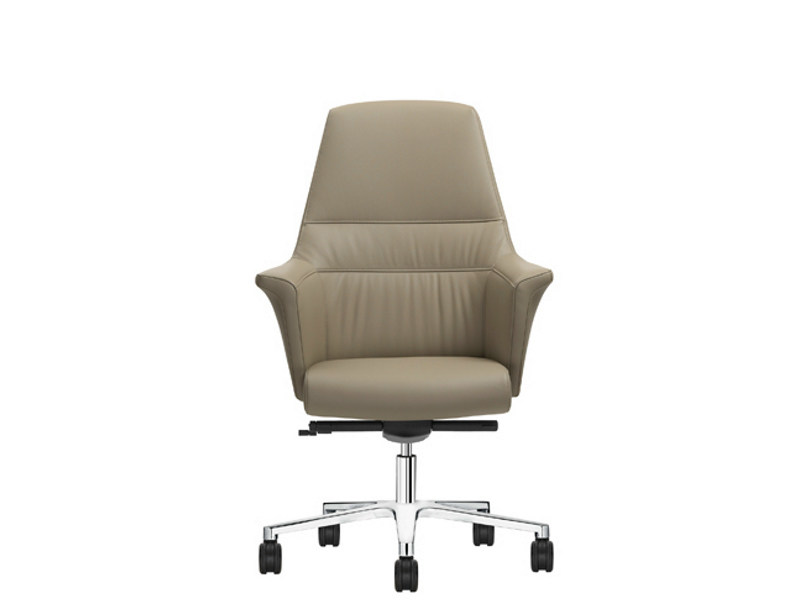Aluminium Task chair with 5-Spoke base with Armrests with Casters