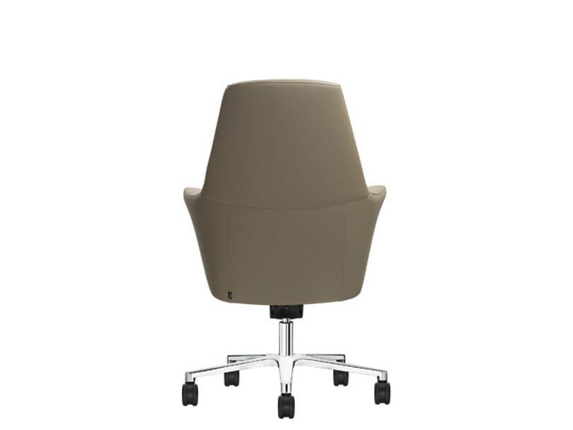 Sedie Da Ufficio Con Braccioli Senza Ruote : Sedia ufficio operativa in pelle con ruote of course sedia