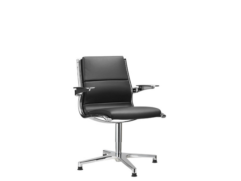 Leather Task chair with Armrests