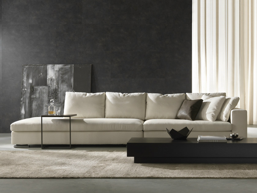 Sectional fabric sofa with removable cover