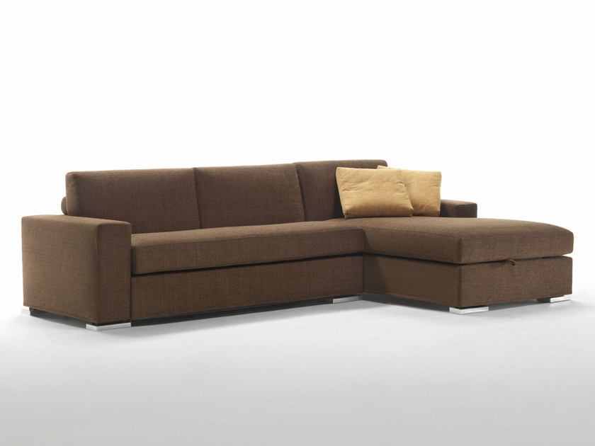 Corner fabric sofa bed with removable cover