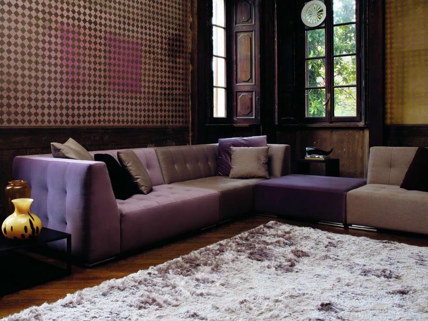 Upholstered modular fabric sofa