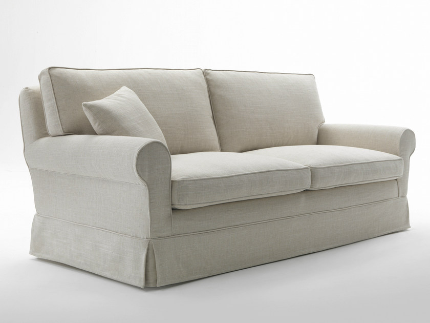 Upholstered fabric sofa
