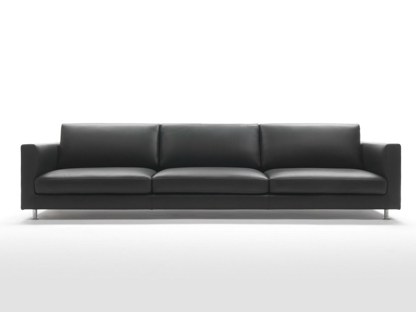 4 seater leather sofa AVENUE - Giulio Marelli Italia