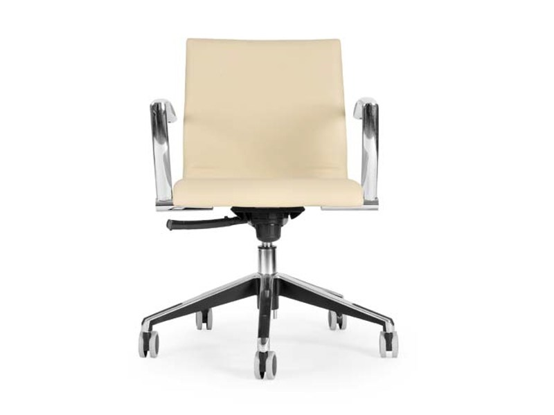 Swivel chair with 5-spoke base with casters MARS OFFICE by Riccardo Rivoli