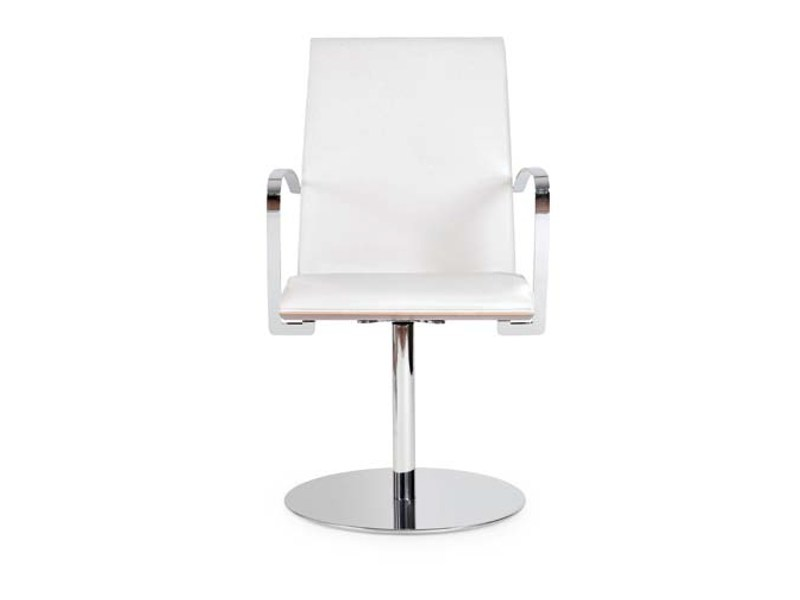 Swivel chair with armrests JONY ROUND by Riccardo Rivoli