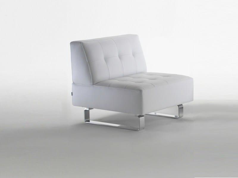 Upholstered leather armchair SNAKE | Armchair - Giulio Marelli Italia