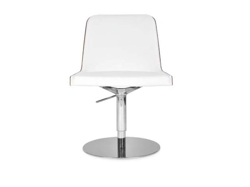 Swivel upholstered chair MARLÈNE ROUND | Chair by Riccardo Rivoli