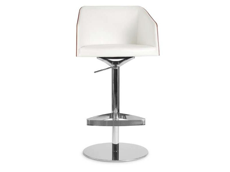 Height-adjustable stool with armrests