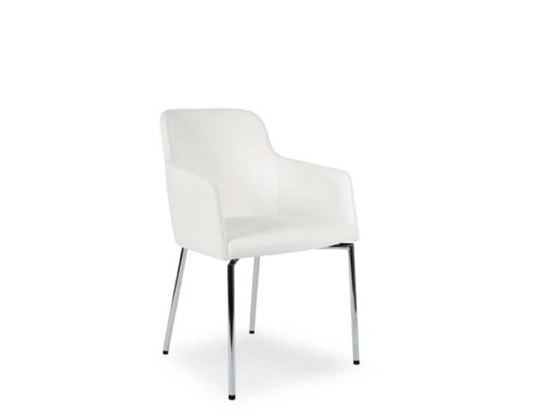 Fabric chair with armrests MARLÈNE | Chair with armrests by Riccardo Rivoli