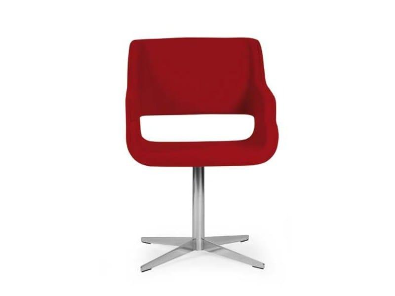 Swivel armchair with 4-spoke base