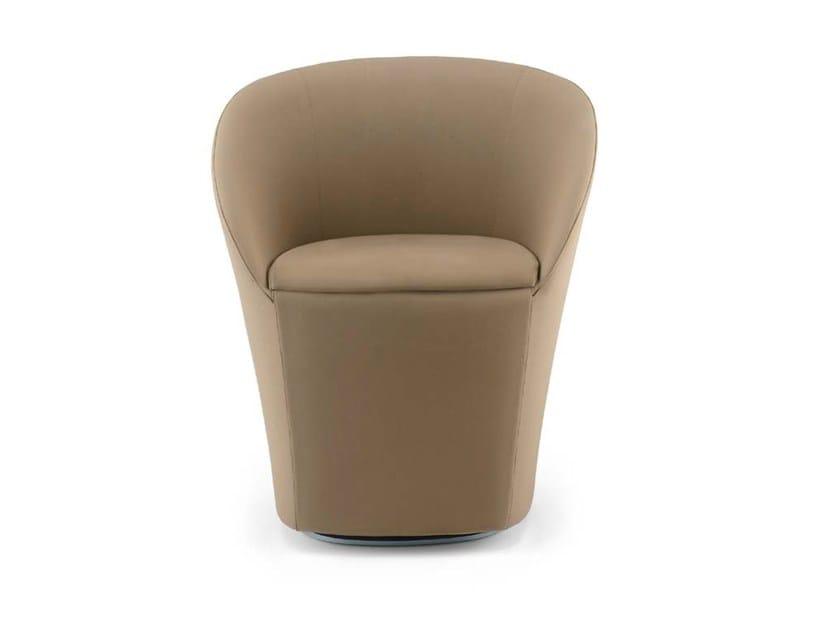 Swivel fabric armchair MADDY by Riccardo Rivoli