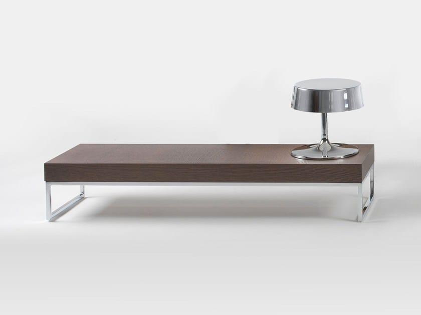 Low rectangular oak coffee table EGO | Low coffee table - Giulio Marelli Italia
