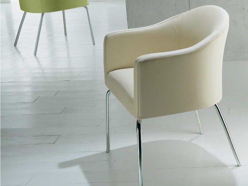 Upholstered fabric easy chair with armrests MISTRAL | Easy chair - Riccardo Rivoli Design