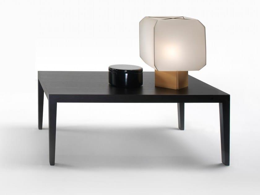 Low oak coffee table