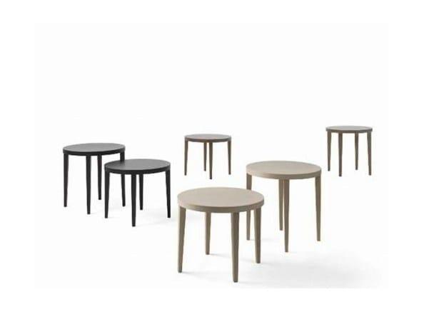 Oak coffee table LONDON | Round coffee table - Giulio Marelli Italia