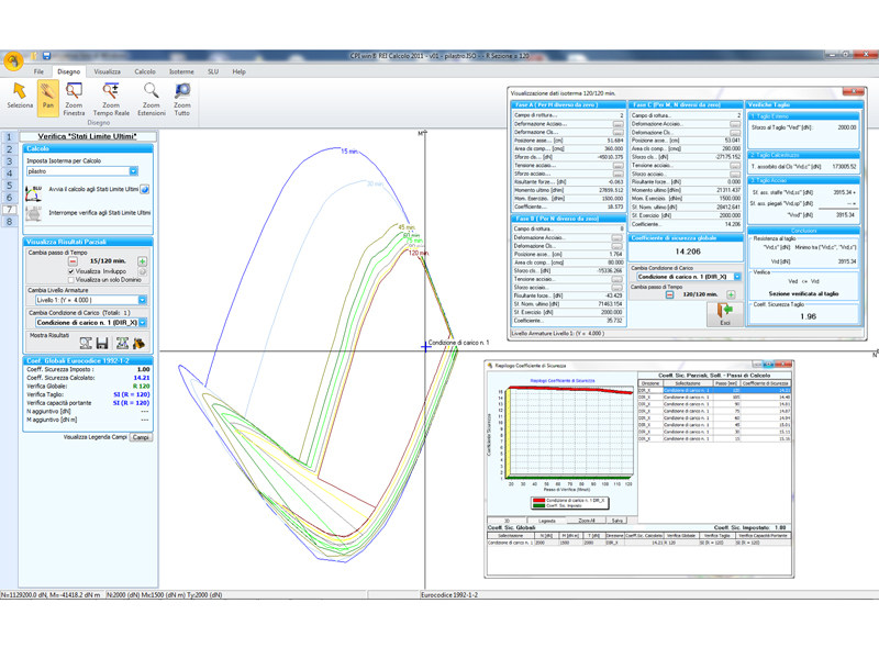 Calcolo resistenza al fuoco elemento strutturale cpi win for Miglior software di progettazione edilizia
