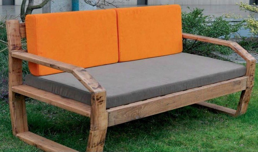 2 er sofa aus holz fabris mountain by lgtek outdoor design michele villa. Black Bedroom Furniture Sets. Home Design Ideas