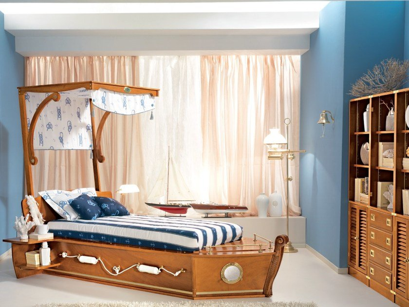 Storage bed for kids' bedroom 536 | CALAFURIA by Caroti