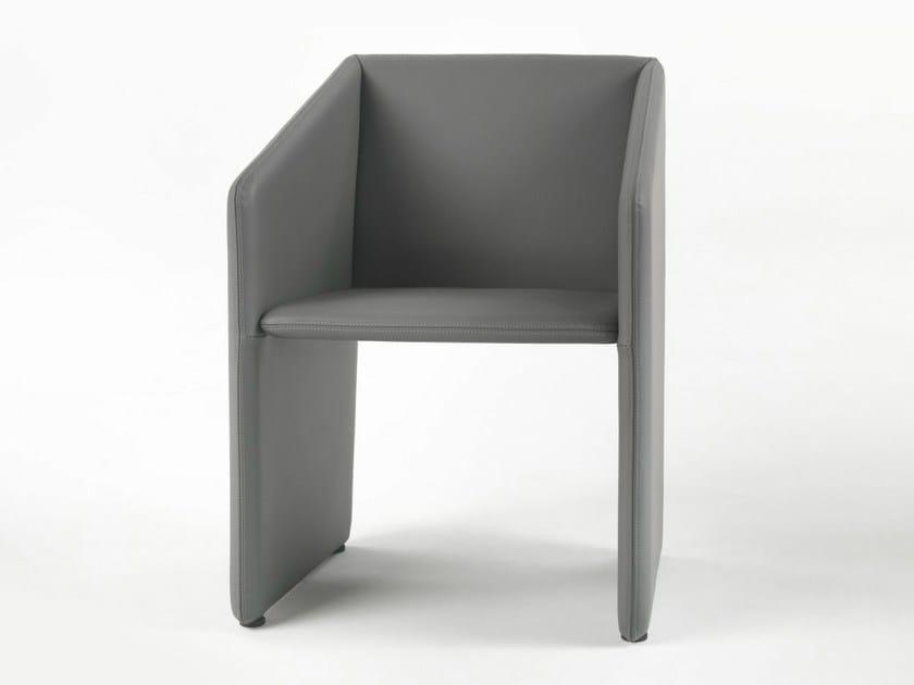 Polyurethane armchair with armrests