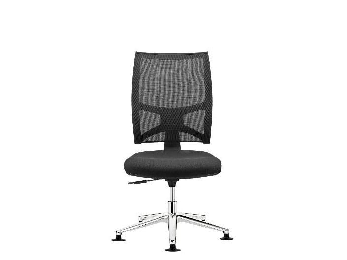 Network aluminium Task chair with 5-Spoke base - Sedia ufficio operativa con braccioli
