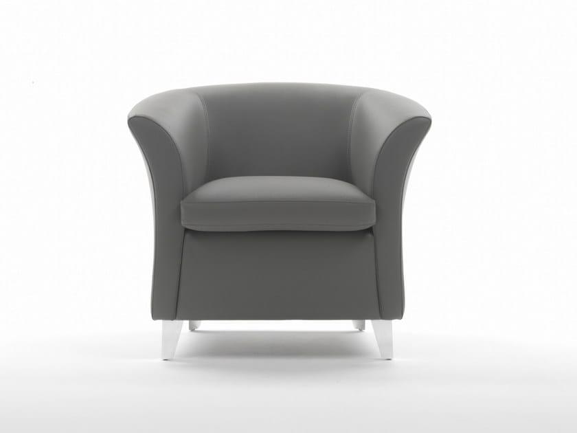 Club upholstered polyurethane armchair