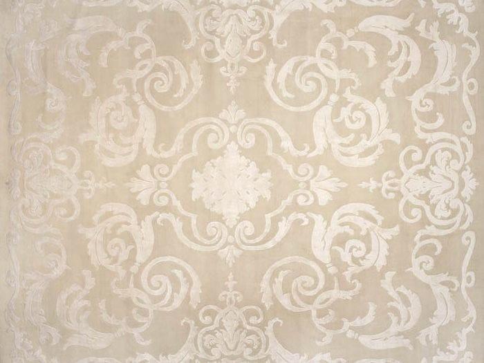 Handmade rectangular rug CARDINAL BEIGE - EDITION BOUGAINVILLE
