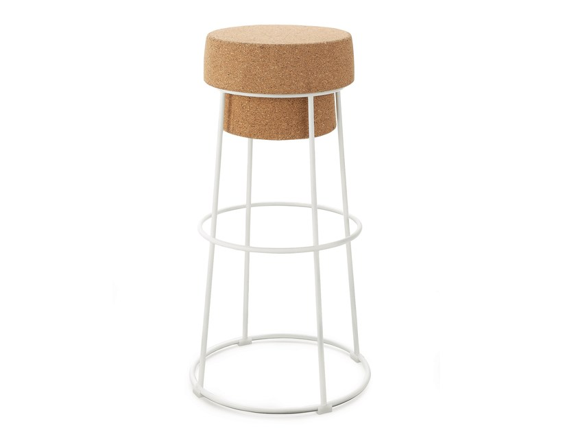 High cork stool BOUCHON-SGA | High stool - DOMITALIA