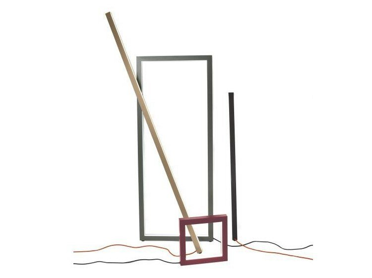 LED aluminium floor lamp FRAME - Schönbuch