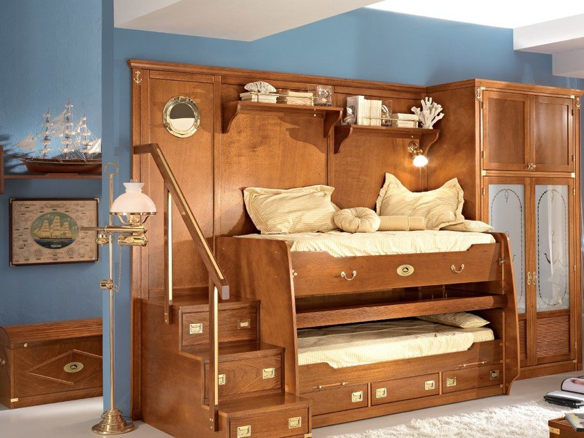 Wooden bedroom set 247 RECLINABILE | Bunk bed - Caroti