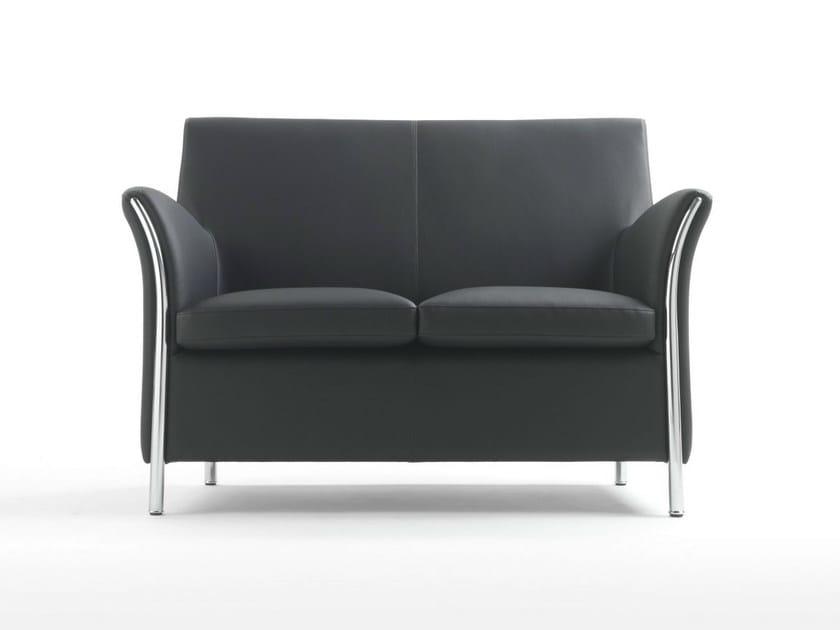 Upholstered 2 seater polyurethane sofa