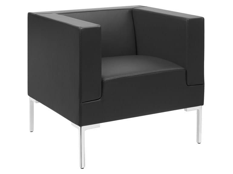 Upholstered polyurethane armchair MATRIX | Armchair - SitLand
