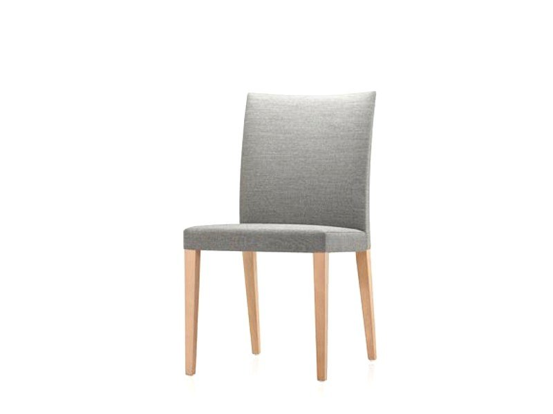Upholstered fabric chair SPRING | Chair by Brunner