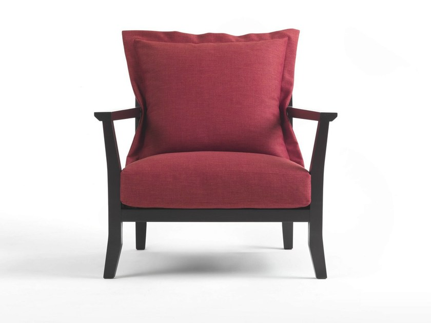 Fabric armchair with removable cover LONDON - Giulio Marelli Italia