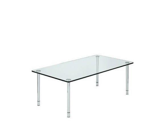 Low rectangular crystal coffee table