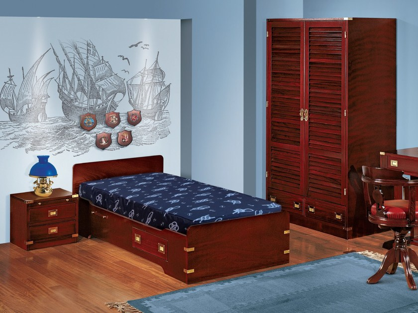 Fitted wooden teenage bedroom 170 | Fitted bedroom set - Caroti