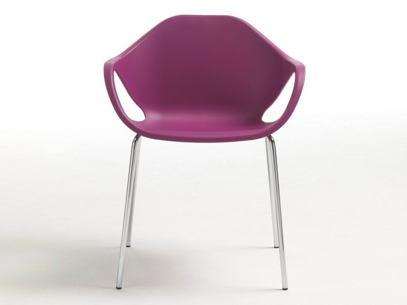 Stackable polypropylene chair with armrests NINA - Giulio Marelli Italia