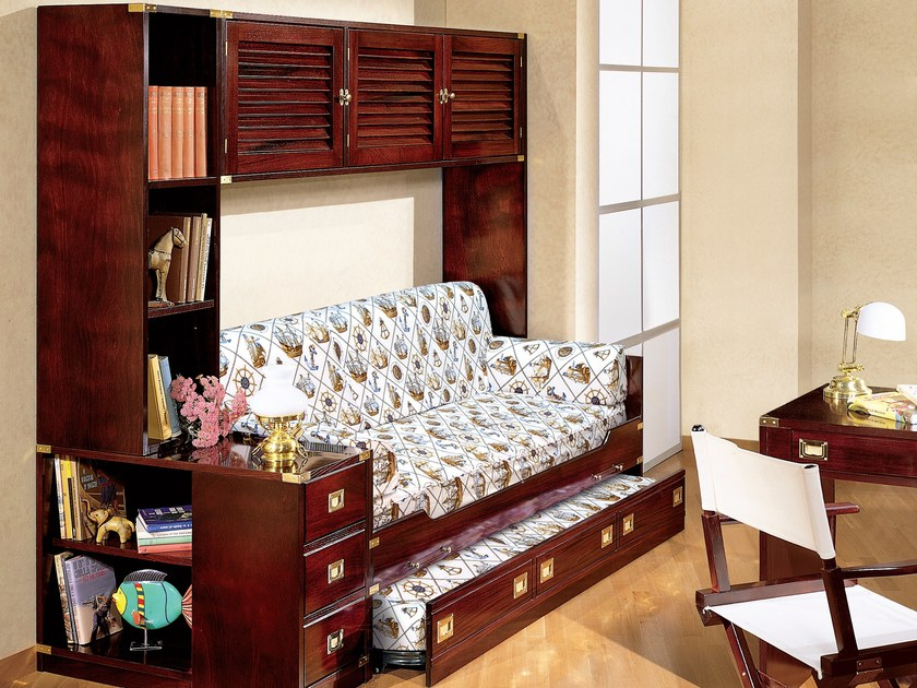 Wooden bedroom set with bridge wardrobe 172 | Bedroom set with bridge wardrobe by Caroti