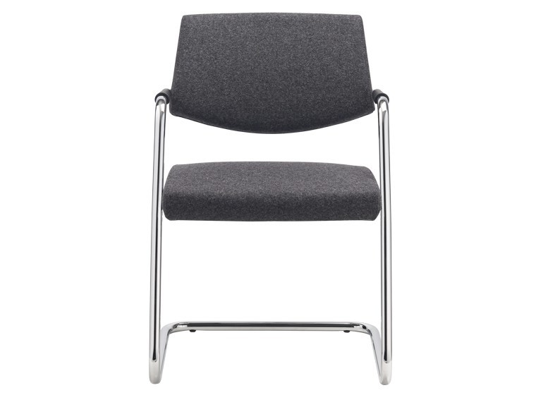 Cantilever visitor's chair with Armrests PASSE-PARTOUT | Cantilever chair - SitLand