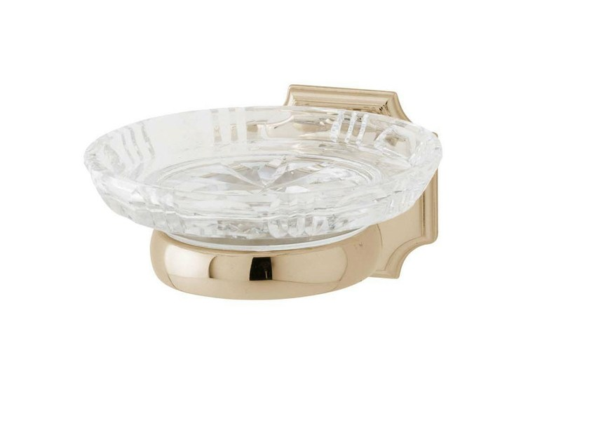 Wall-mounted crystal soap dish REGENT | crystal soap dish by GENTRY HOME