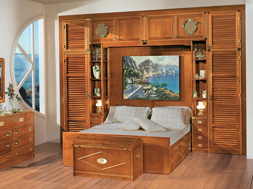 Sectional wooden walk-in wardrobe 600 | Walk-in wardrobe - Caroti