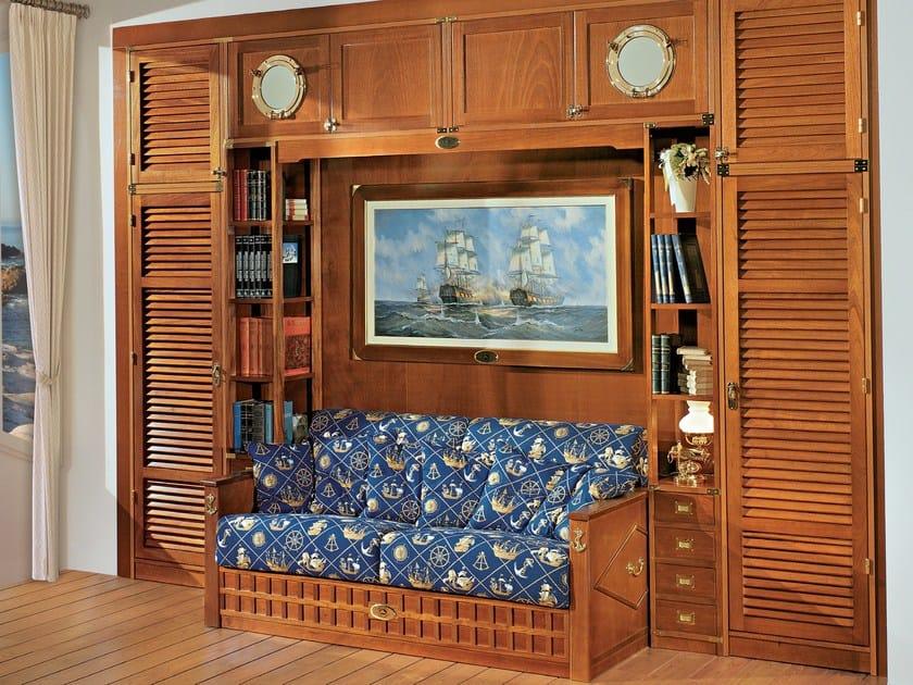 Cameretta a ponte componibile in legno 601 cabina for Bastone per velux