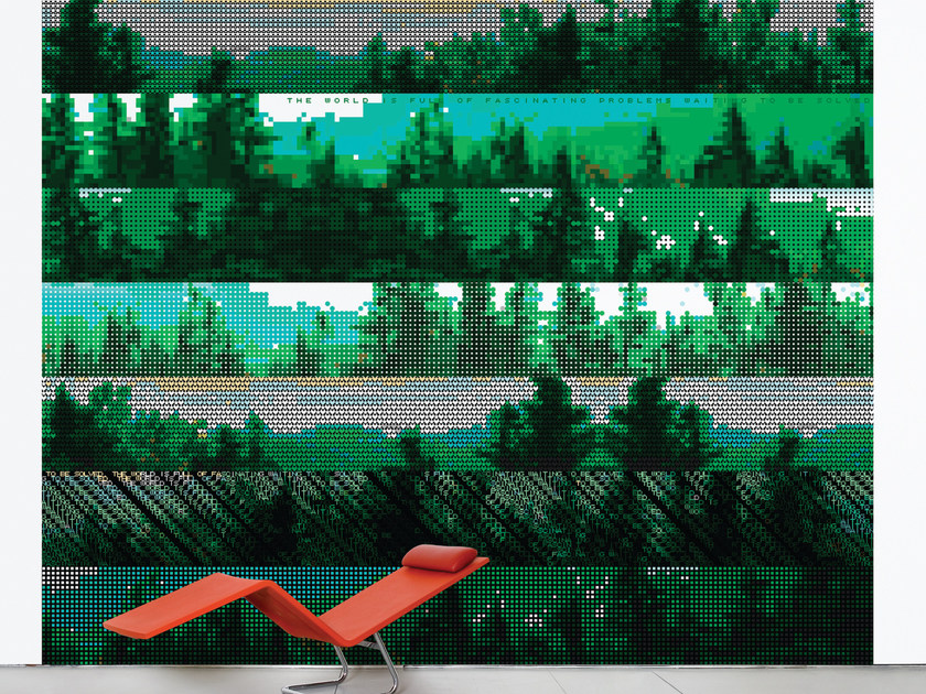Landscape non-woven paper wallpaper DELAWARE FOREST by Moustache