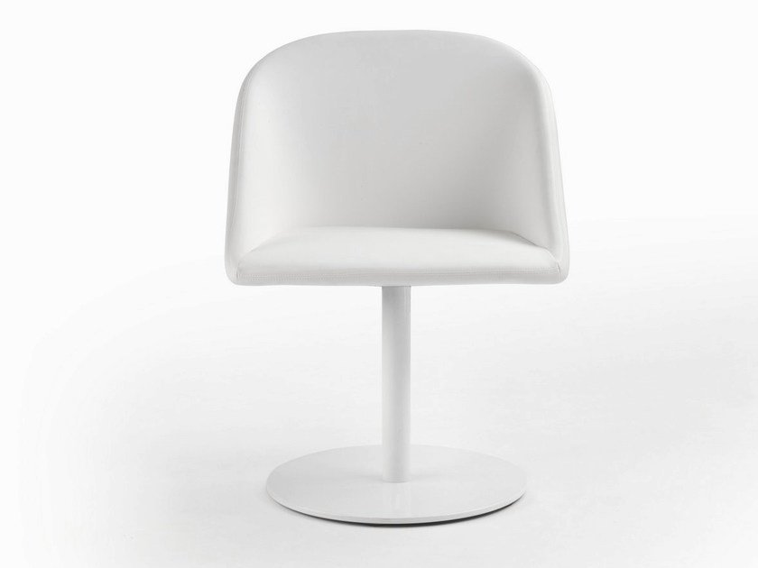 Swivel upholstered armchair with armrests